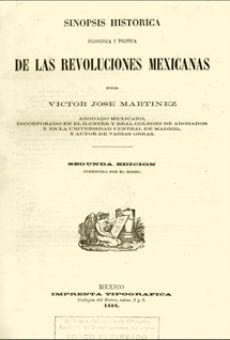 Sinópsis histórica filosófica y política de las revoluciones mexicanas